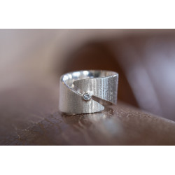 Ring 925/- mit Blautopas